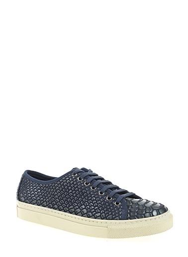 D by Divarese %100 Deri Sneaker Lacivert